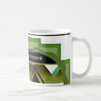 Janz著Saint patricks dayのアールデコのコーヒー・マグ コーヒーマグカップ