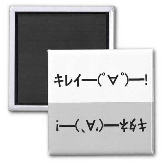 Japanese ASCII Art「キレイー!」&「キタネー!」dishwasher magnet マグネット
