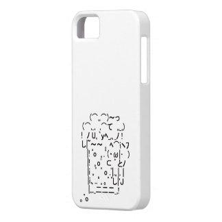 "Japanese ASCII Art ""beer"" (black) iPhone 5 Cover"
