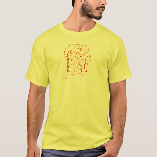 Japanese ASCII Art「beer」 Tシャツ