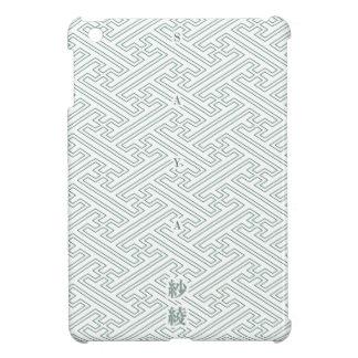 "Japanese classic pattern ""SAYA"". 和柄古典文様[SAYA]紗綾形 iPad Miniケース"