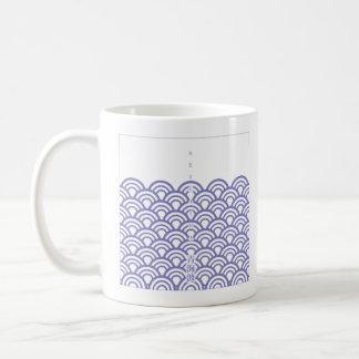 "Japanese classic pattern ""SEIGAIHA""和柄古典文様 青海波 コーヒーマグカップ"