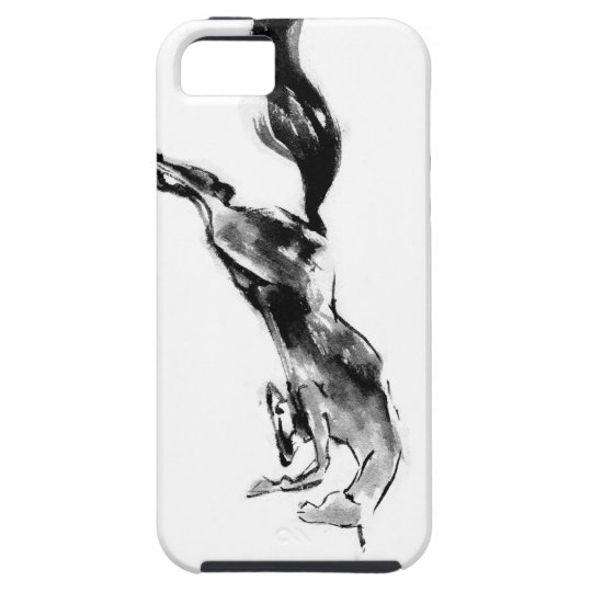 Japanese horse samurai art equestrian sumi iPhone SE/5/5s ケース