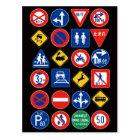 Japanese Road Signs ポストカード