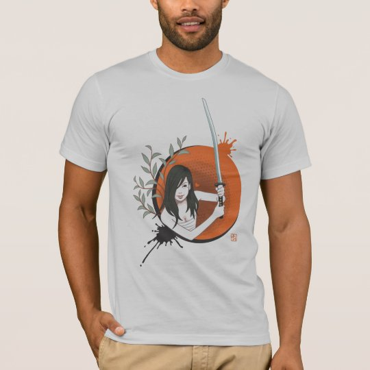 Japanese Samurai Woman Tシャツ