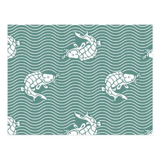 Japanese traditional pattern - Carp ポストカード