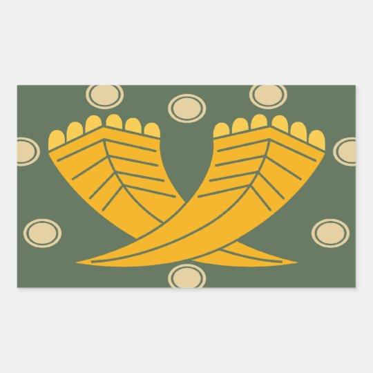 Japanese traditional pattern - CHOJI 長方形シール
