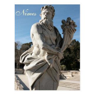 Jardins de la Fontaineの彫刻 ポストカード