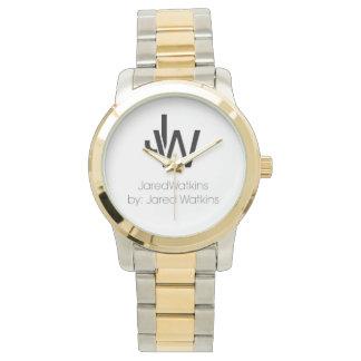 JaredWatkinsのロゴのツートーン腕時計 腕時計