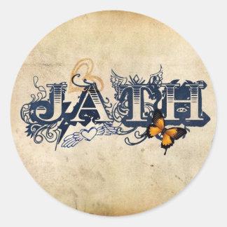 JATHのステッカー ラウンドシール