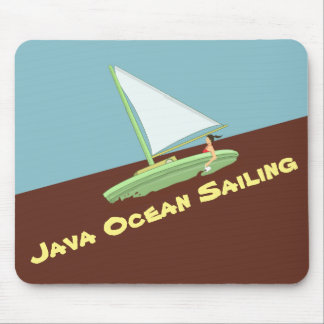 JAVA OCEAN SAILING MOUSE PAD by Slipperywindow マウスパッド