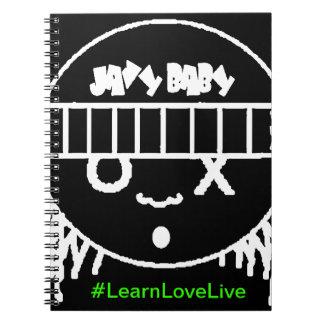"""javyベビーは""""愛生きている""""螺線形ノートを学びます ノートブック"""