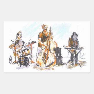 Jazz Trio Concert 長方形シール