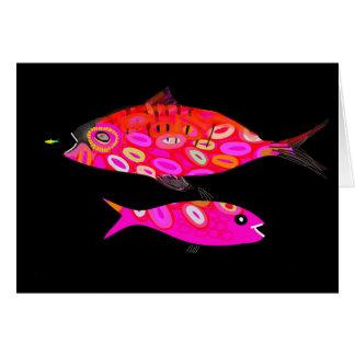 Jazzfishのサイケデリックな熱帯魚のデザイン カード