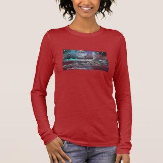 Jazzykatのファンタジーの芸術の女性のHanesのTシャツ、 長袖Tシャツ