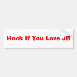 JBを愛したら警笛を鳴らして下さい バンパーステッカー