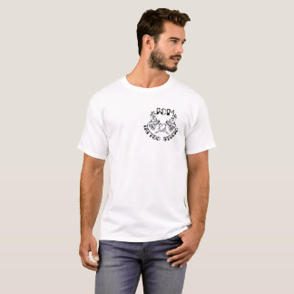 JCMの入れ墨のスタジオによって決め付けられる黒いロゴ Tシャツ