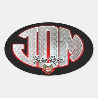 JDM Fuckusの騒ぎ 楕円形シール