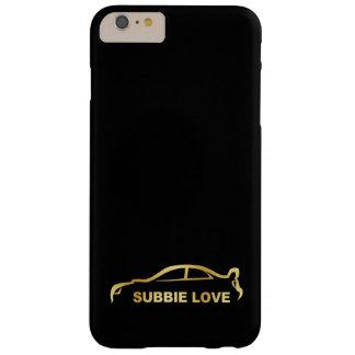 JDM Subby愛(Subaru WRX STI)金ゴールドのシルエット Barely There iPhone 6 Plus ケース