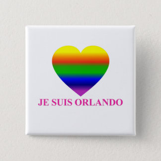 Jeのsuisのオーランドの虹のハート 缶バッジ