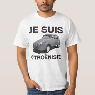 Jeのsuisのcitroëniste -元の灰色のCitroën 2CV Tシャツ