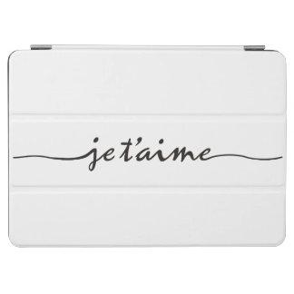 jeのt'aime - I愛フランスのの-黒 iPad Air カバー