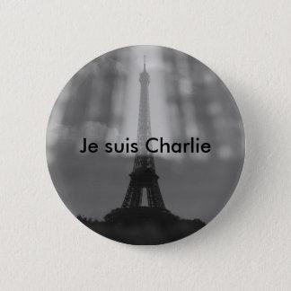 Je Suisチャーリーボタン 5.7cm 丸型バッジ