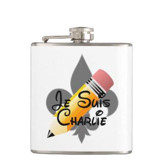 Je Suisチャーリー及び(紋章の)フラ・ダ・リのフラスコ フラスク