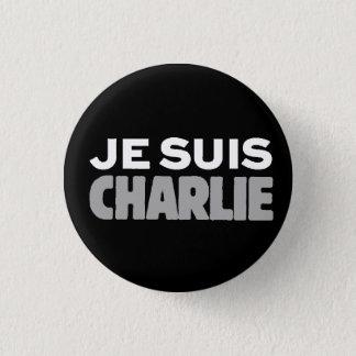 Je Suisチャーリー私AMのチャーリー普遍的なスローガン 3.2cm 丸型バッジ