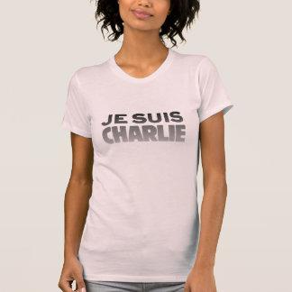 Je Suisチャーリー-私はチャーリーのピンクです Tシャツ