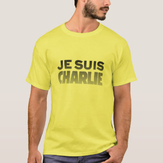 Je Suisチャーリー-私はチャーリーの黄色です Tシャツ