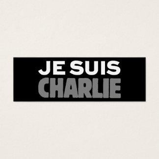 Je Suisチャーリー-私はチャーリーの黒です スキニー名刺