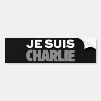 Je Suisチャーリー-私はチャーリーの黒です バンパーステッカー