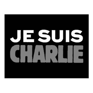 Je Suisチャーリー-私はチャーリーの黒です ポストカード