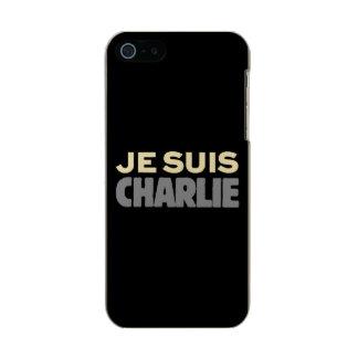 Je Suisチャーリー-私はチャーリーの黒です メタリックiPhone SE/5/5sケース