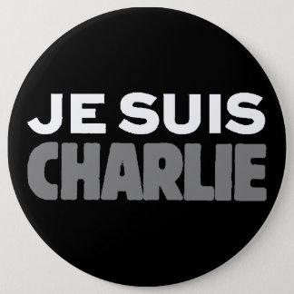 Je Suisチャーリー-私はチャーリーの黒です 15.2cm 丸型バッジ