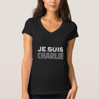 Je Suisチャーリー-私はチャーリーの黒です Tシャツ