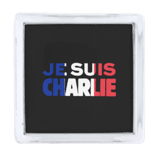 Je Suisチャーリー-私はフランスの三色チャーリーです シルバー ラペルピン