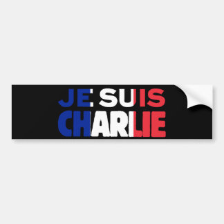 Je Suisチャーリー-私はフランスの三色チャーリーです バンパーステッカー