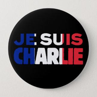 Je Suisチャーリー-私はフランスの三色チャーリーです 缶バッジ