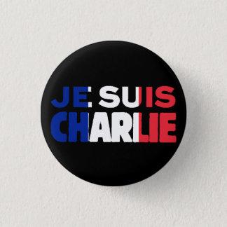 Je Suisチャーリー-私はフランスの三色チャーリーです 3.2cm 丸型バッジ