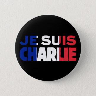 Je Suisチャーリー-私はフランスの三色チャーリーです 5.7cm 丸型バッジ