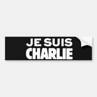 Je Suisチャーリー-私は黒のチャーリーの白です バンパーステッカー