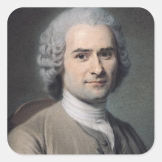Jean-Jacques Rousseauのポートレート スクエアシール