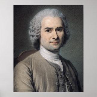 Jean-Jacques Rousseauのポートレート ポスター
