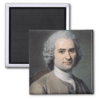 Jean-Jacques Rousseauのポートレート マグネット