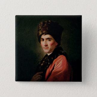 Jean-Jacques Rousseau 5.1cm 正方形バッジ