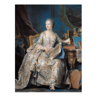 Jeanneポアソン伯爵夫人de Pompadour 1755年 ポストカード