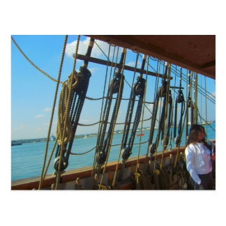 """""""Jeannieジョンソン""""の帆訓練の容器、高い船 ポストカード"""