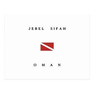 Jebel Sifahオマーンのスキューバ飛び込みの旗 ポストカード